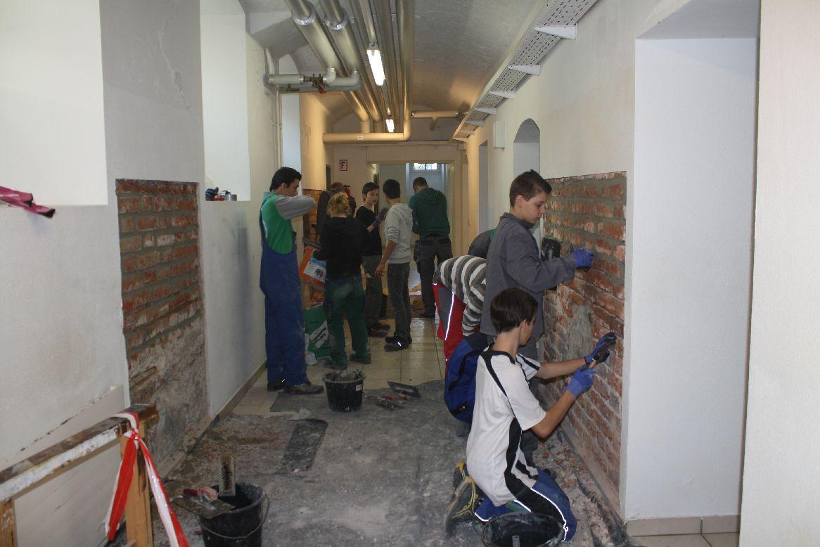 Trockenlegung der Mauern